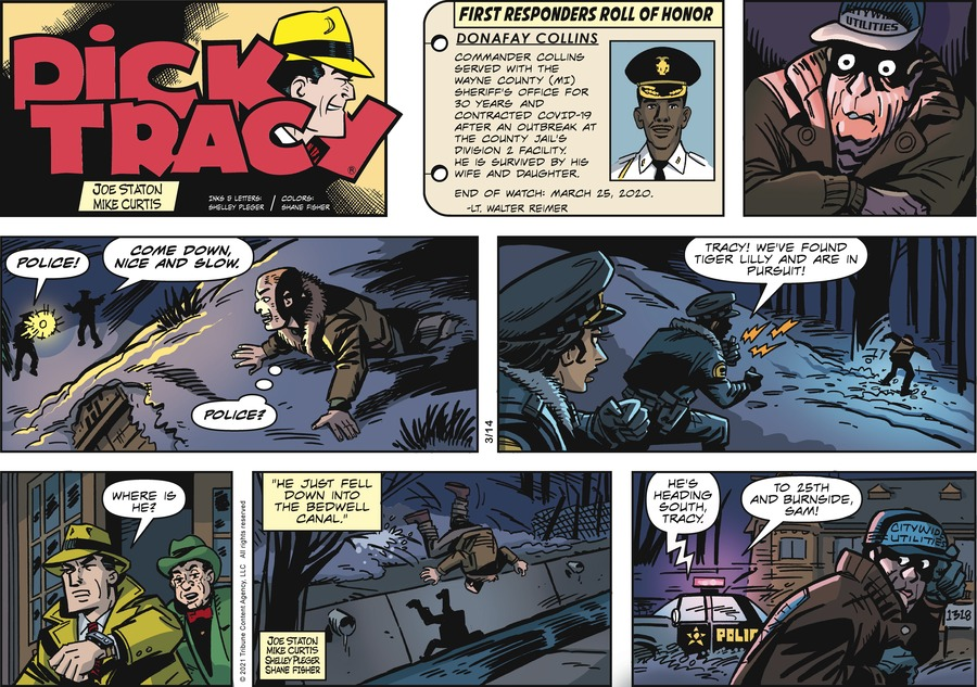 Dick Tracy Comic Strip for March 14, 2021