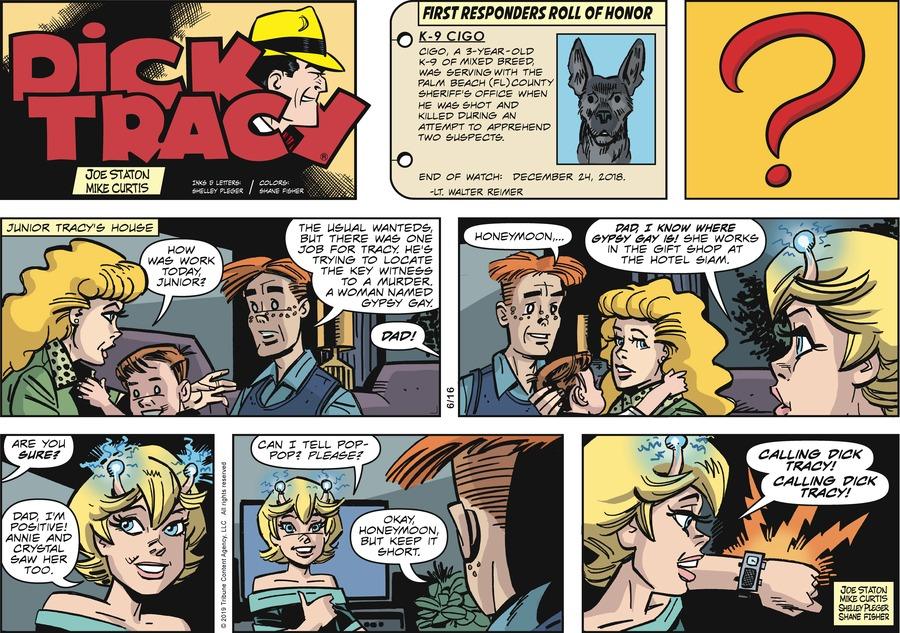 Dick Tracy Comic Strip for June 16, 2019