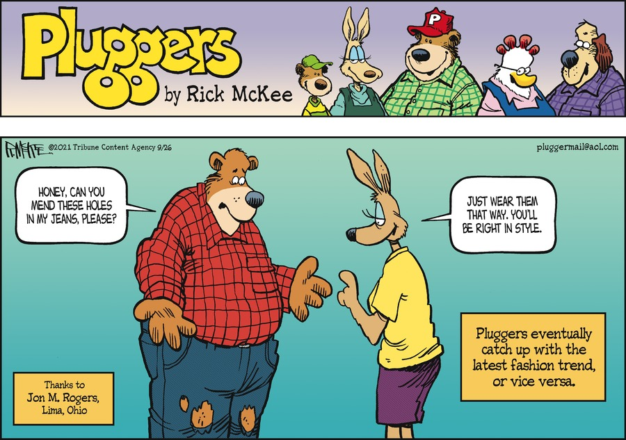 Pluggers Comic Strip for September 26, 2021