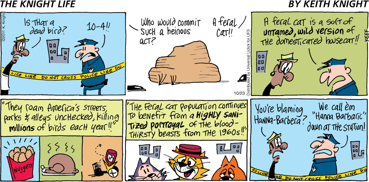 The Knight Life Comic Strip for October 23, 2011