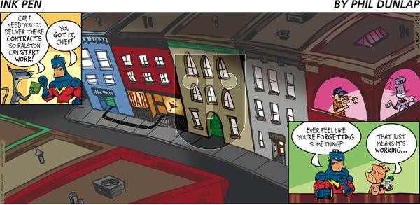 Ink Pen on Sunday January 23, 2011 Comic Strip
