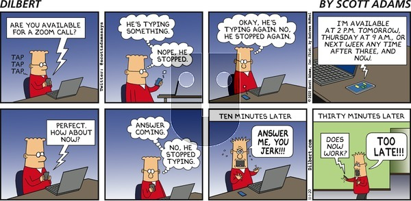 Dilbert on Sunday November 1, 2020 Comic Strip