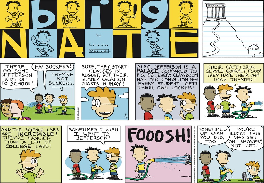Big Nate Comic Strip for August 29, 2021