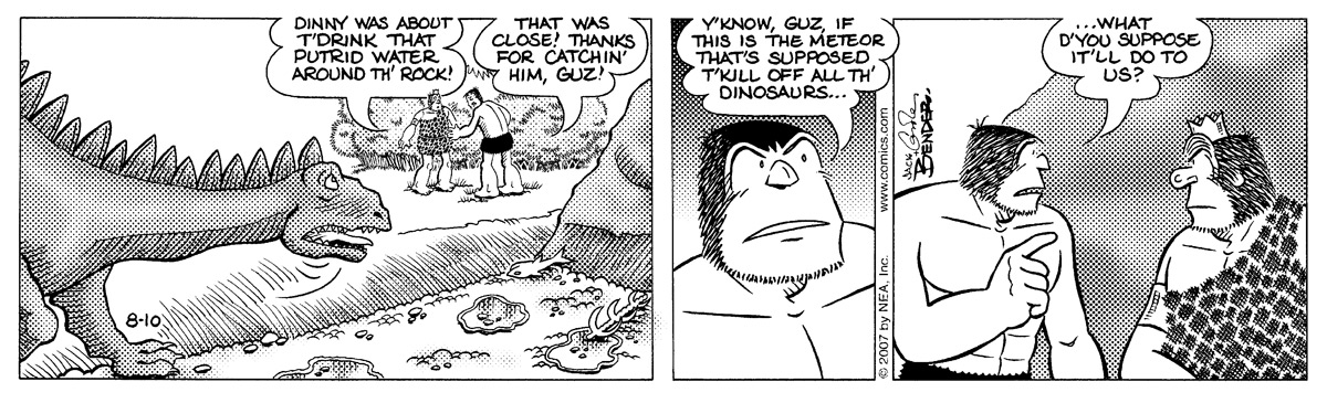 Alley Oop for Aug 10, 2007 Comic Strip