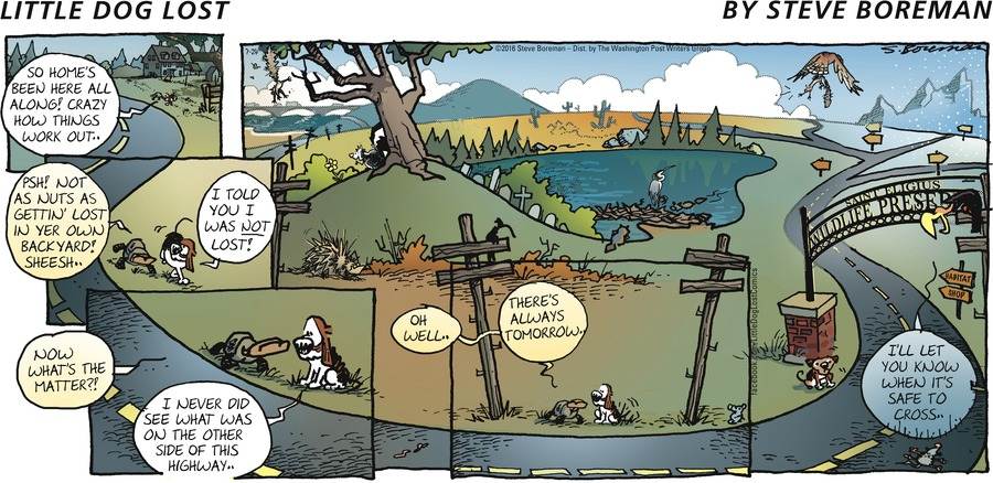 Little Dog Lost Comic Strip for July 24, 2016