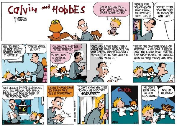 Calvin and Hobbes - Sunday December 22, 1991 Comic Strip