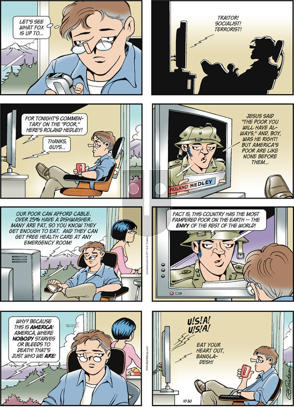Doonesbury on Sunday October 30, 2011 Comic Strip