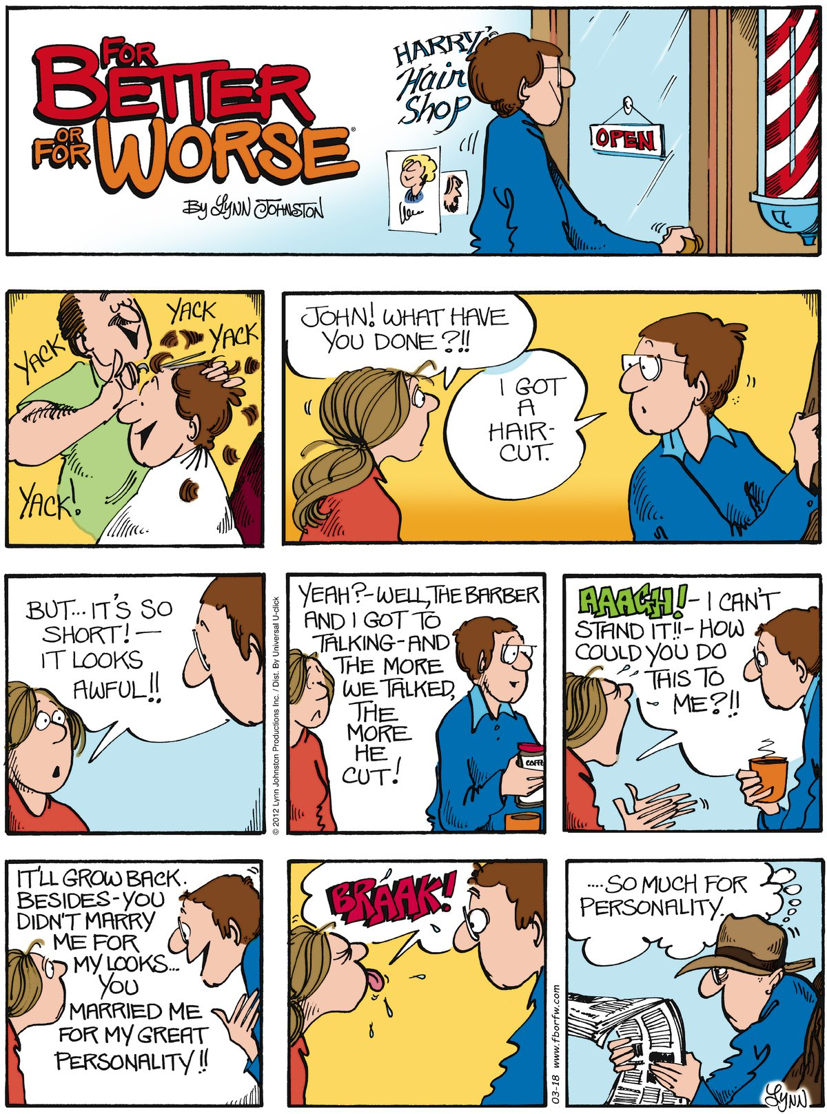For Better or For Worse Comic Strip for March 18, 2012