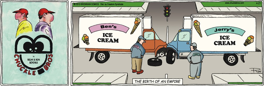 Chuckle Bros Comic Strip for April 21, 2013