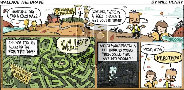 Wallace the Brave on Sunday October 21, 2018 Comic Strip