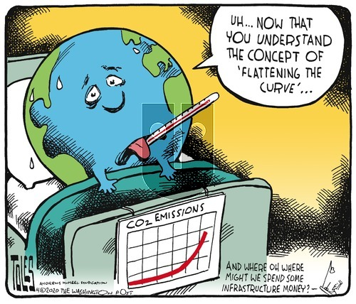 Tom Toles on Sunday April 5, 2020 Comic Strip