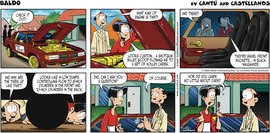 Baldo for Jul 30, 2006 Comic Strip