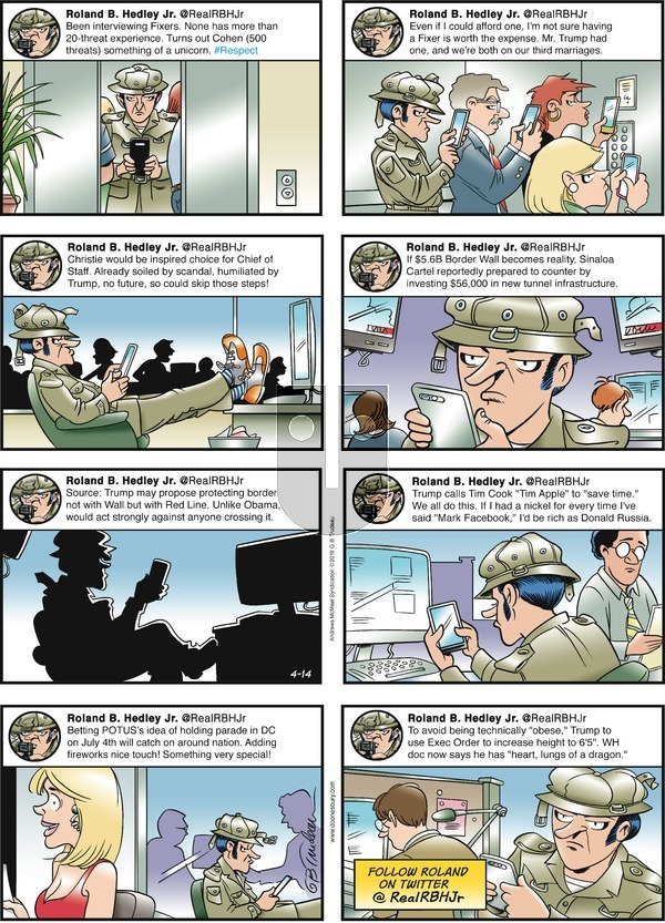 Doonesbury on Sunday April 14, 2019 Comic Strip