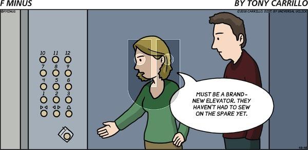 F Minus on Sunday October 16, 2016 Comic Strip