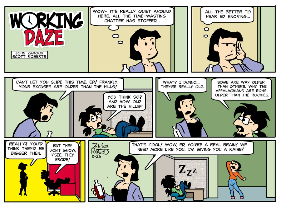 Working Daze Comic Strip for September 26, 2021