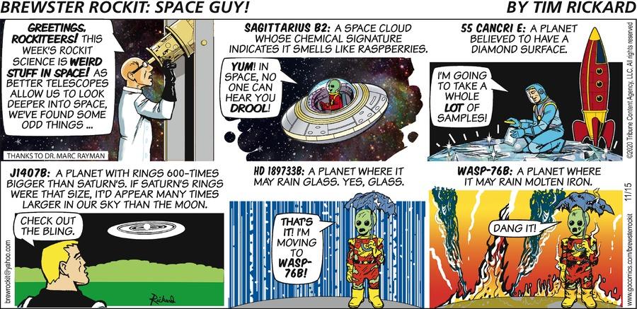 Brewster Rockit Comic Strip for November 15, 2020