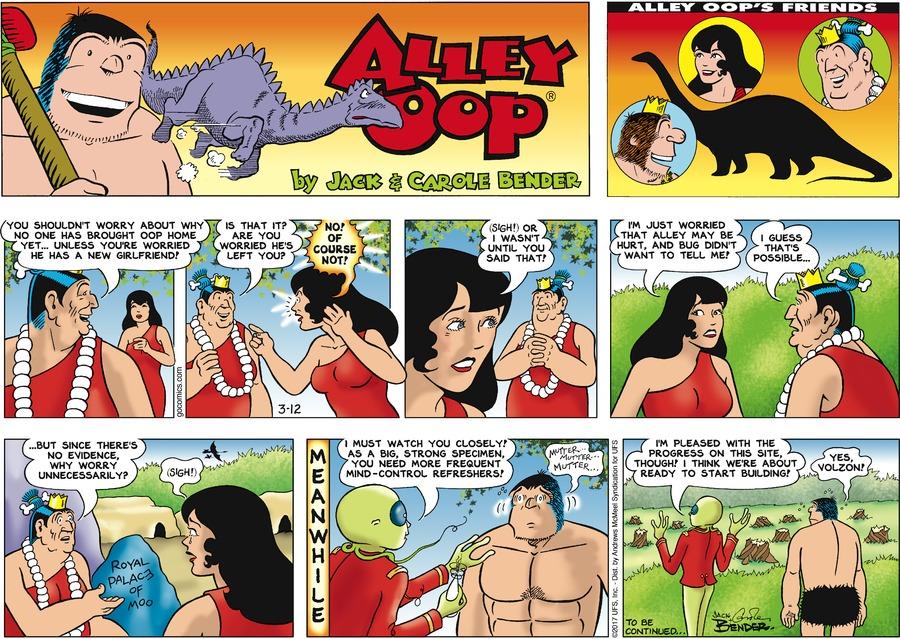 Alley Oop for Mar 12, 2017 Comic Strip