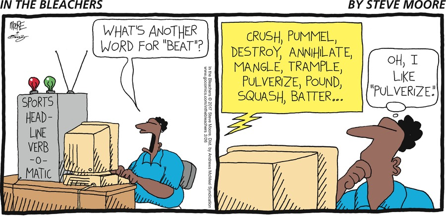 "What's another word for ""beat""?