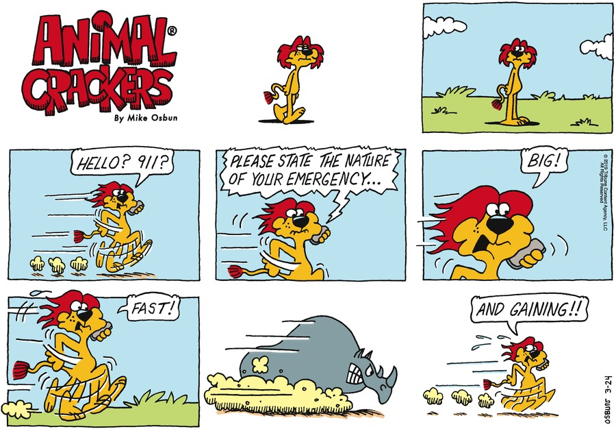 Animal Crackers Comic Strip for March 24, 2019