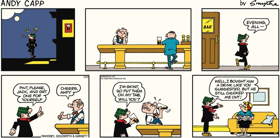 Andy Capp Comic Strip for March 29, 2020