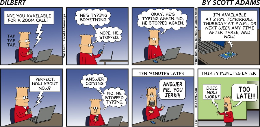 Can You Zoom Now - Dilbert by Scott Adams