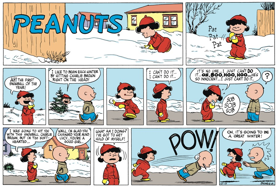 Peanuts Begins Comic Strip for December 12, 1954