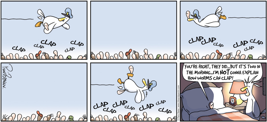 Ollie and Quentin for Feb 24, 2013 Comic Strip