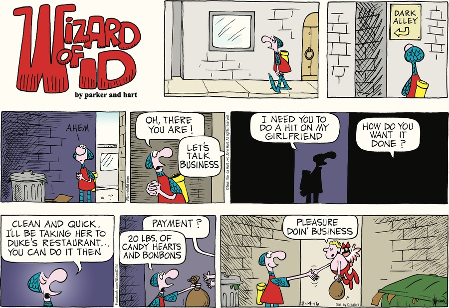 Wizard of Id Comic Strip for February 14, 2016