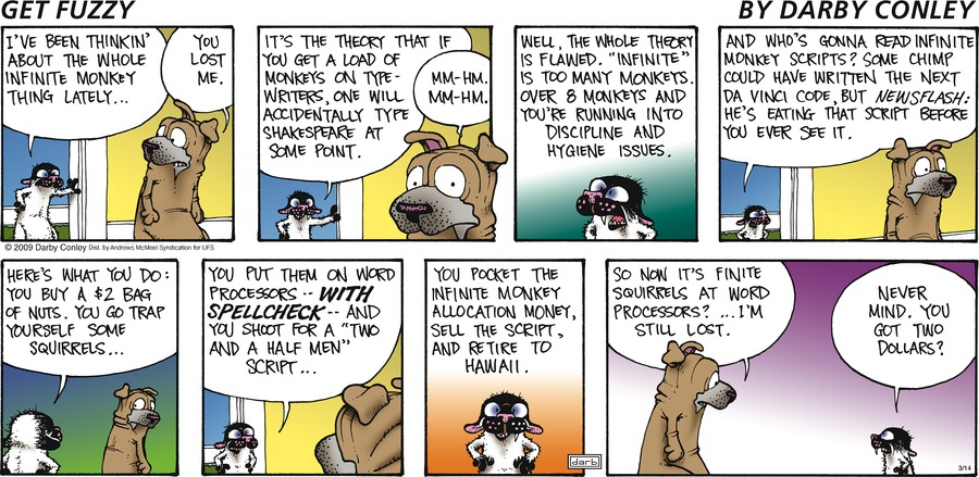 Get Fuzzy Comic Strip for March 14, 2021