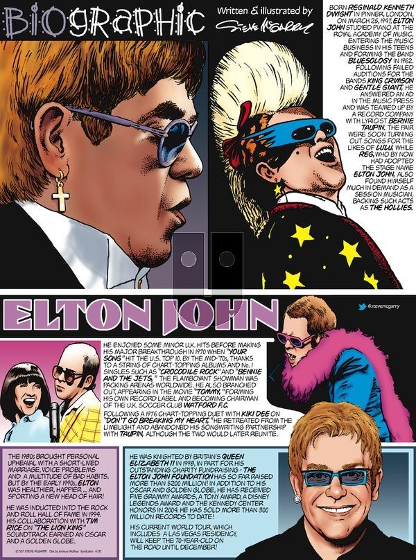 Biographic on Sunday April 30, 2017 Comic Strip