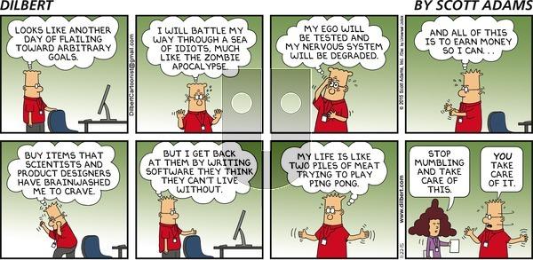 Dilbert on Sunday November 22, 2015 Comic Strip