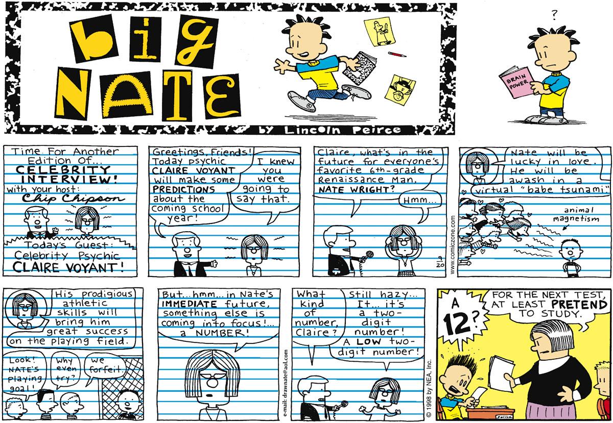 Big Nate for Sep 20, 1998 Comic Strip
