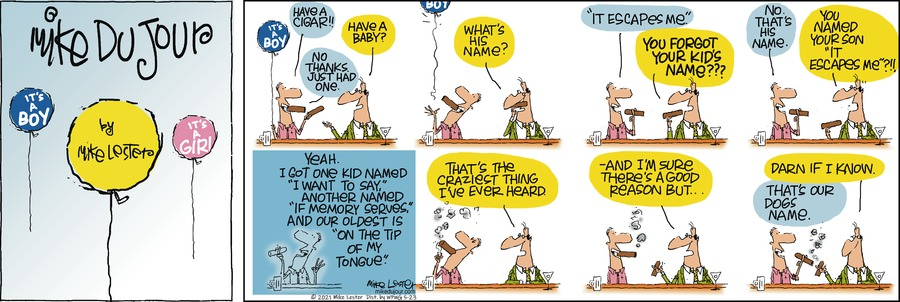 Mike du Jour Comic Strip for May 23, 2021