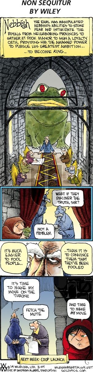 Non Sequitur on Sunday March 24, 2019 Comic Strip