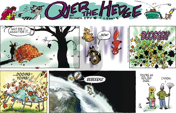 Over the Hedge on Sunday October 28, 2018 Comic Strip
