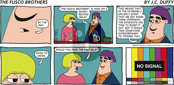 The Fusco Brothers - Sunday July 21, 2019 Comic Strip
