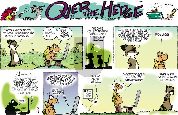 Over the Hedge on Sunday May 13, 2018 Comic Strip