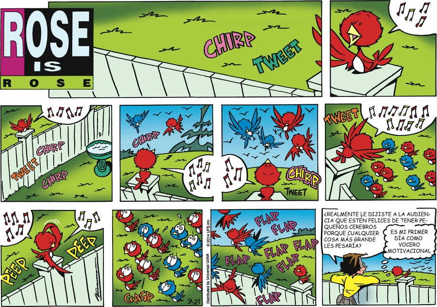 Rosa Dominical for Sep 21, 2014 Comic Strip