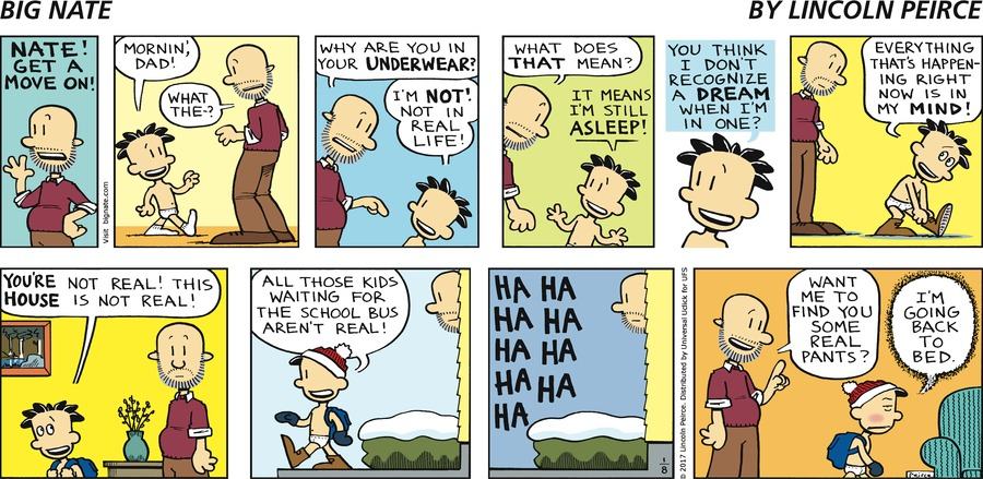 Big Nate Comic Strip for January 08, 2017