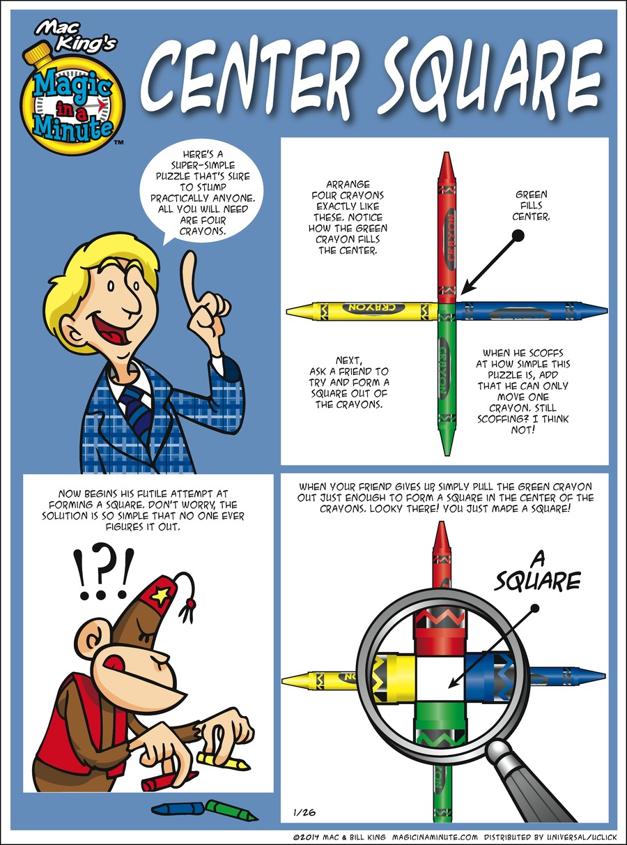 Magic in a Minute Comic Strip for January 26, 2014