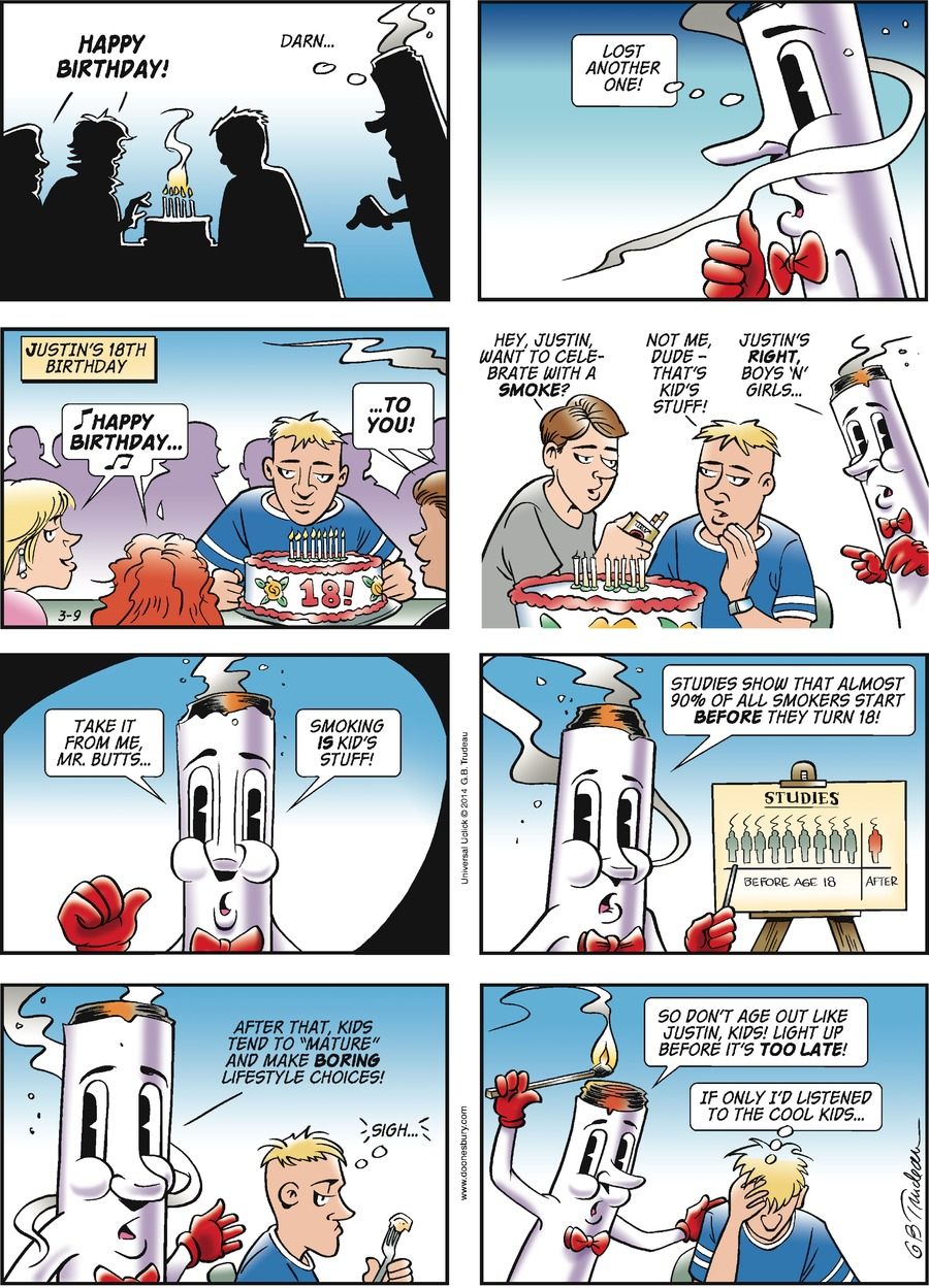 Doonesbury Comic Strip for March 09, 2014