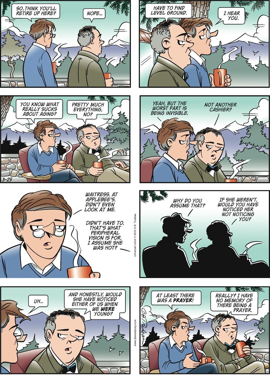 Doonesbury Comic Strip for March 29, 2015