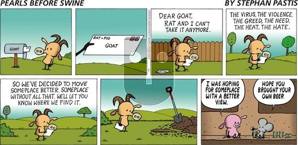 Pearls Before Swine - Sunday November 8, 2020 Comic Strip