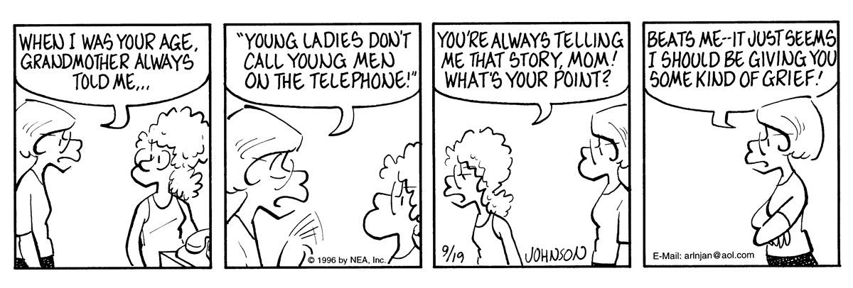 Arlo and Janis for Sep 19, 1996 Comic Strip