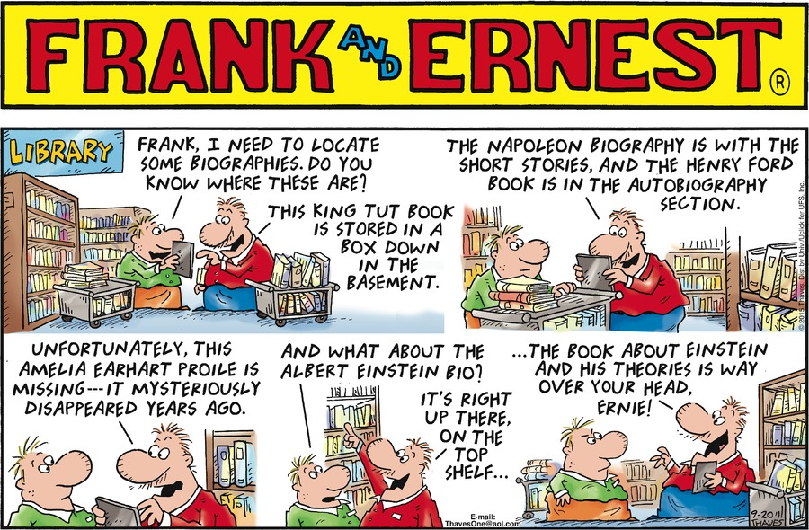 Frank and Ernest for Sep 20, 2015 Comic Strip