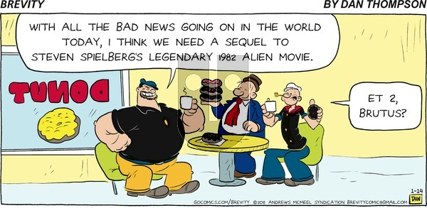 Brevity on Sunday January 14, 2018 Comic Strip