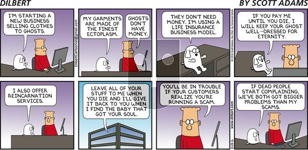 Dilbert on Sunday August 28, 2016 Comic Strip