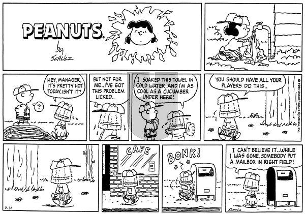 Peanuts on Sunday July 31, 1994 Comic Strip