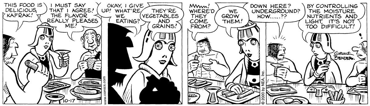 Alley Oop for Oct 17, 2000 Comic Strip
