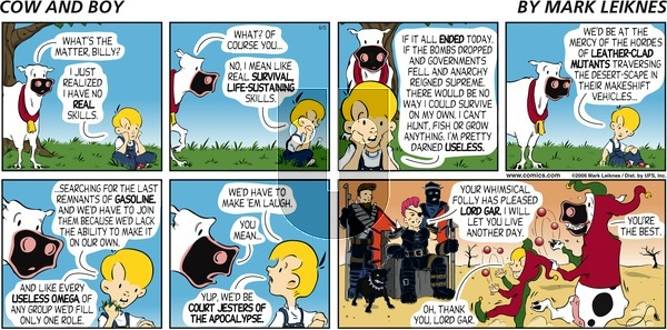 Cow and Boy Classics - Sunday August 13, 2006 Comic Strip